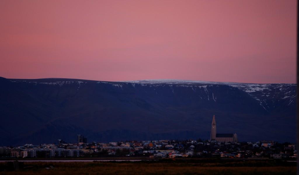 Reykjavik with Hallgrímskirkja church